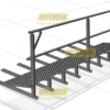 Defender™ Walkway - Levelled with Single Guardrail
