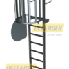 Defender™ Rung Ladder - Gated Half Cage