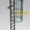 Defender™ Rung Ladder - Caged with Grab Bars