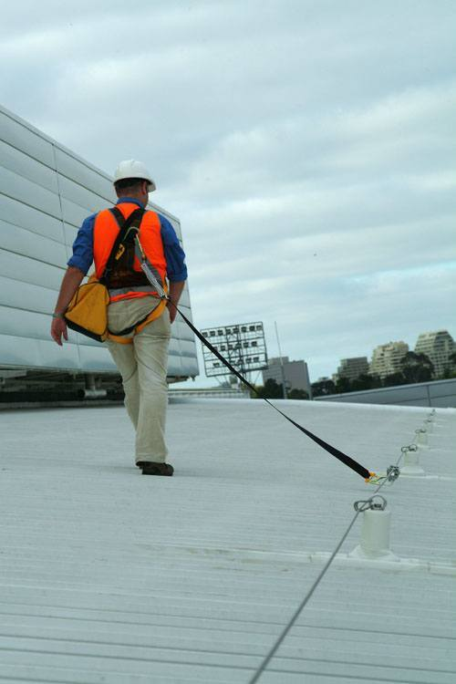 Rod Laver Arena Roof Anchor Static Line