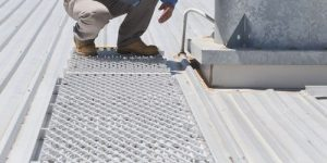 Defender™ roof Walkways used to gain access for inspections of equipment