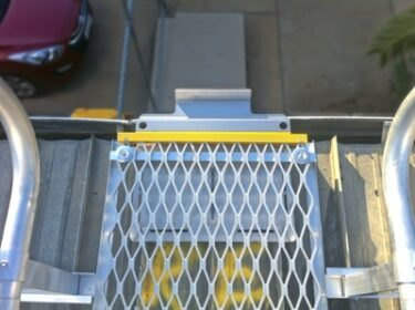 Access to roof using ladder brackets