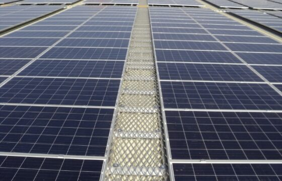 Roof walkway used to gain access to solar panels