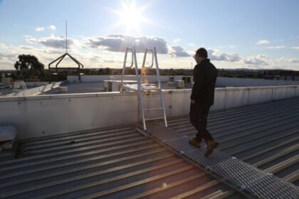 Westfield, Fountain Gate, Workplace Access & Safety, WAS, walkway, walking on roof, step ladder