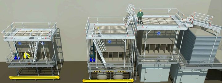 CT Platform design for working at heights
